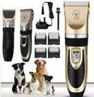 Electric Pet Cat Dog Grooming Clippers Hair Trimmer Shaver Cordless Quiet Kit v
