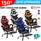 Gaming Racing Chairs Swivel Recliner Adjustable Footrest Computer Office Seat