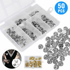 Brass Clutch Clasp Butterfly Military Pin Backs Guards Gold Chrome Silver 50PCS