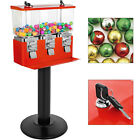 Gumball Machine Candy Vending With Stand Bubble Gum Dispenser Bank w/ Keys