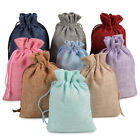 Kyпить 25/50/100 Burlap Bags Linen Jewelry Pouches Jute Hessian Gift Bag Wedding Favor  на еВаy.соm