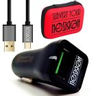 Set Kit COMBO Car Charger Carries Socket USB Reload Rapid Fast + Cable