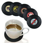 For Drinks Coffee Tea Beer 6pcs Retro CD Record Coasters Non Slip Cup Mat Pad