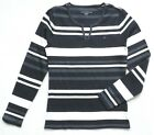 Tommy Hilfiger Women's Long Sleeve Striped Knit Top