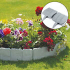 10-50 Lawn Border Stone Look Garden Outdoor Fence Edge Barriers Flower Bed Decor