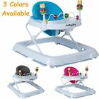Baby Walker Adjustable Height Removable Toy Wheels Folding Portable Home Help