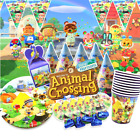 Animal Crossing Cupcake Toppers Birthday Party Decoration Cake Balloon Cup Plate