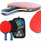 Table Tennis Ping Pong Professional Set 2 Paddles 3 Balls and Organizing Case