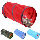 UK_ AM_ Cat Kitten Tunnel Toy Tube Hideout Playing Folding Nest Tent Ball Pet Su
