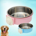 UK_ WO_ EG_ LC_ Stainless Steel Hanging Feeding Bowl fixed Food Water Pet Cat Do