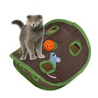 UK_ EE_ Simple 9-hole Cat Kitten Interactive Toy Ball Bell Mouse Hidden Pet Supp