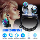Bluetooth 5.0 Wireless Headset Headphones Stereo Earphone Wristband Auto Pair
