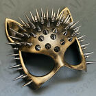 Cat Woman Mask Sexy Steampunk Spike Costume Halloween Cosplay Birthday Party