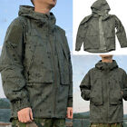 Mens Tactical Hunting Hooded Jacket Zipper Wind Coat Desert night camouflage