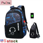 2PCS/Set FengDong boys school waterproof backpack teenagers student chest bag