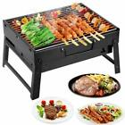 Large BBQ Barbecue Steel Charcoal Grill Portable Outdoor Picnic Cooking Stove UK