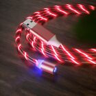 LED Flowing Light-Up Magnetic Type C Micro USB Fast Charger Cable For Cell Phone