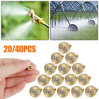 """20/40PCS Brass Misting Nozzles Water Mister Sprinkle Cooling System 0.012""""10/24"""