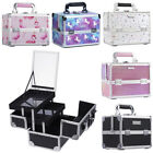 Professional Large Beauty Box Cosmetic Make up Vanity Train Carry Case Gift Set