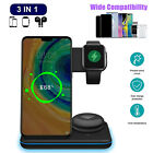 3in1 Qi Wireless Fast Charger Charging Station Dock Stand For Apple Watch iPhone