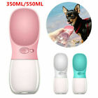 Portable Pet Travel Water Bottle Dog Cat Drinking Feeding Bowl Outdoor Feeder DD