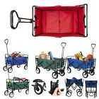 Collapsible Outdoor Utility Wagon Heavy Duty Garden Folding Cart with Storage