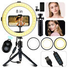 Dimmable LED Ring Light Selfie Lamp+Tripod Stand Phone Holder+Remote for Makeup