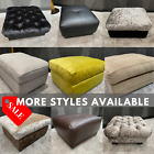 SALE-FOOTSTOOL Clearance- MEGASALE- Many Variations, Fabrics & Colours Available
