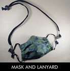 Mask Lanyard or Premium Cotton Face Mask, filter pocket, nose wire, High Quality