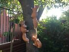 35cm Tree Hanging Squirrel Resin Garden Ornament Statue Sculpture Gift Animal Sy