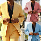 Summer Linen Men's Suits Yellow Wedding Business Tuxedos Prom Party Jackets New