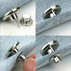 1pc Retractable Jeans Buttonadjustable Removable Stapleless Metal Buttons C8k6