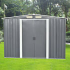 Metal Garden Shed Storage Sheds Tool HOuse Outdoor with FREE Base Foundation