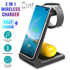 3 in1 QI Wireless Charger Charging Dock Station For Apple Watch/ iPhone 11 X XS