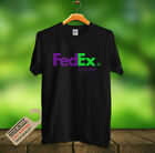 FedEx Ground Shipping Company Logo cool men's Black T-Shirt S-2XL New Stock image