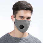 4 LAYERS COTTON FACE MASK WITH FILTER AIR VALVE WASHABLE REUSABLE BREATHABLE UK <br/> ✅FREE P&P ✅MULTI BUY DISCOUNT✅ FAST POST ROYAL MAIL✅