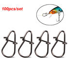 tackle Durable Connector Oval Split Rings Barrel Swivel Fishing Hanging Snap
