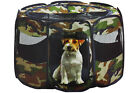 Pet Playpen soft crate dogs Cats Camouflage Pop Up Kennel SAFETY  2 SIZES