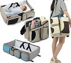 Baby 3 In 1 Mummy Nappy Diaper Bag Travel Bassinet Cot Change Station Handbag