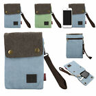 Canvas Small Cute Crossbody Cell Phone Purse Pouch Wallet Bag w/ Shoulder Strap