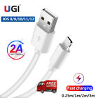 USB Data Sync IOS Charger Charging Cable Cord For iPhone 5s 6 6s 7 8 X XS SE 11
