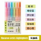 6Pcs/set Highlighters Refillable Pastel Markers Fluorescence Pen for School