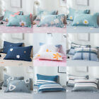 2x Egyptian Cotton Bed Pillow Cases Covers Printed Queen Pillowcase Home Bedding
