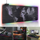 Colorful RGB Gaming Extended Mouse Pad Keyboard Mat For PC Laptop LED Lighting.