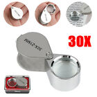 Pocket 30X Triplet Coin Jewelry Eye Glass Loupe Magnifier Jewelers Diamond Loop