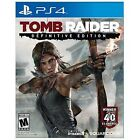 Tomb Raider -- Definitive Edition (Sony PlayStation 4, 2014) Disc only