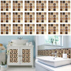 18-72pcs Mosaic Self-adhesive Bathroom Kitchen Decor Home Wall 3d Tile Stickers
