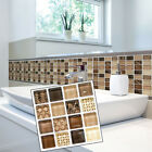 18-72x Mosaic Self-adhesive Bathroom Kitchen Decor Home Wall 3d Tile Sticker Diy