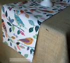 Colorful Table Runner Bird Table Runner Rustic Home Decor Table Linens Dining
