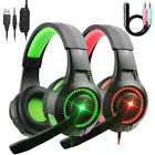 Gaming Headset Stereo Surround Headphone 3.5mm Wired Mic For Laptop PS4 Xbox One